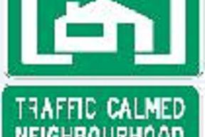 Traffic Calmed Neighbourhood Sign