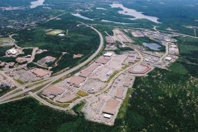 An aerial view of Bayers Lake