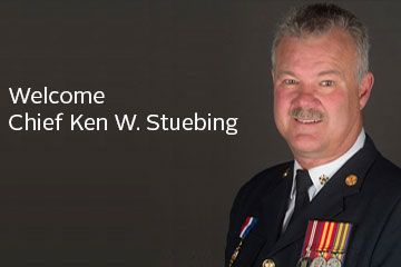Welcome Chief Ken W. Stuebing