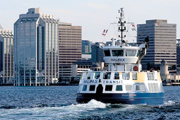 Halifax Transit ferry crossing the Halifax harbour