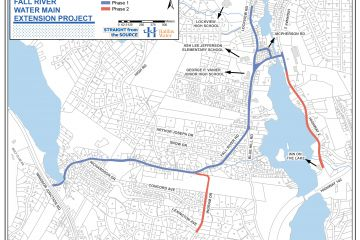 Fall River Water Main Extension Project map
