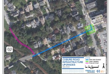 Coburg Road Project map