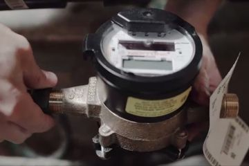 Image of a water meter being installed