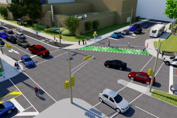 Rendering of improvements proposed for the intersection of North and Gottingen.