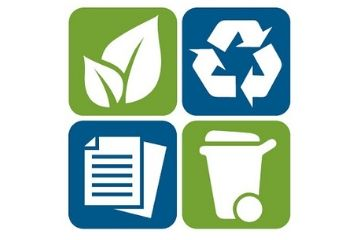 picture about Trash Sign Printable referred to as Rubbish, recycling, and environmentally friendly cart Halifax