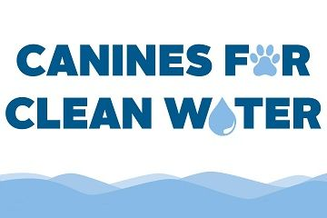 Canines for clean water word mark